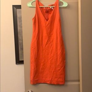 Coral Classic Casual Dress.